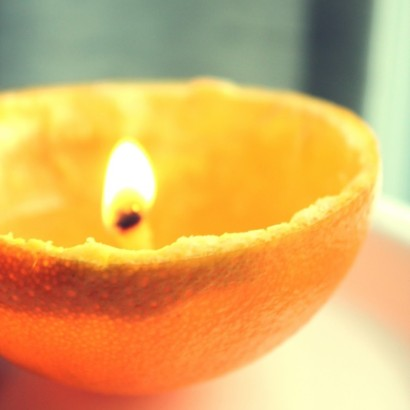 апельсиновая свечка