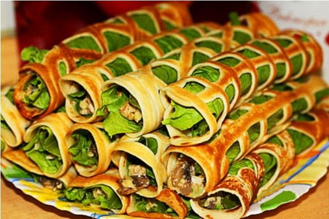 блюда блинов Красивые из