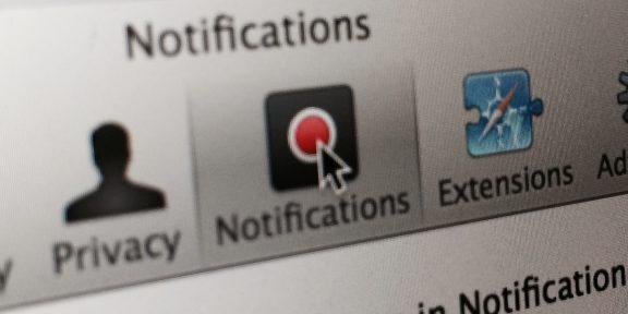 Как отключить оповещения сайтов в Safari в OS X
