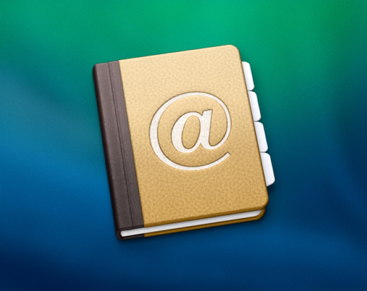 Как сделать резервную копию контактов в OS X