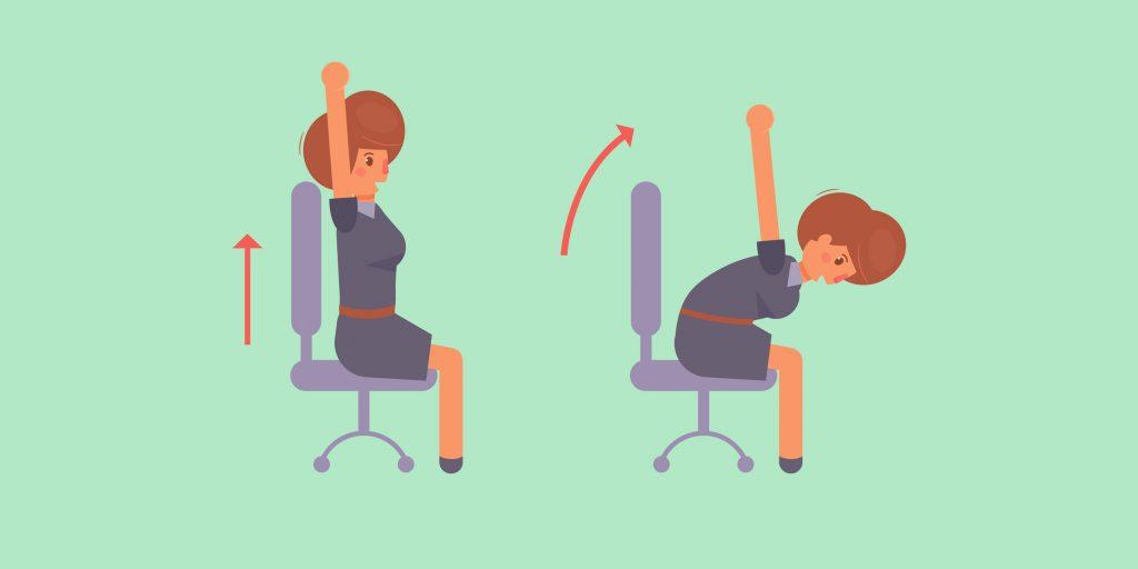 Комплекс упражнений для спины, который можно делать прямо на рабочем месте