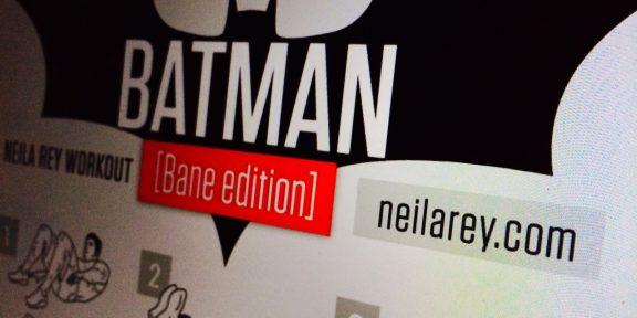 85 быстрых тренировок Бэтмена, Бейна, Нео, 300 спартанцев, Джеймса Бонда, крепкого орешка и других