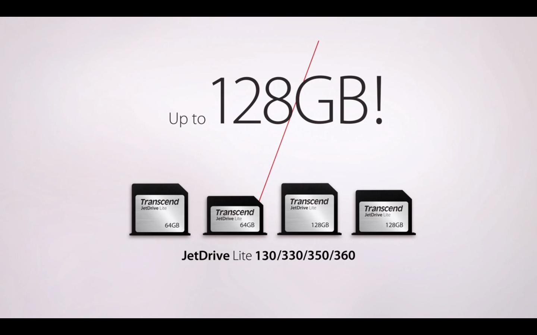 Transcend JetDrive Lite: дополнительные 64/128 ГБ для вашего MacBook по отличной цене