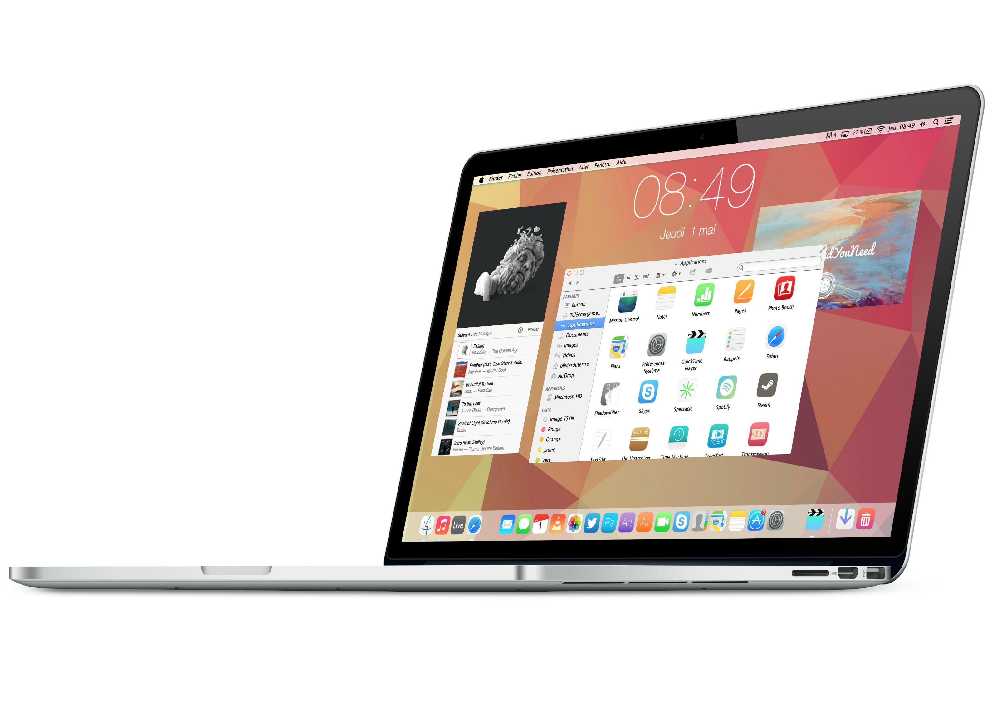 Почему интерфейс OS X Yosemite создан для Retina дисплеев