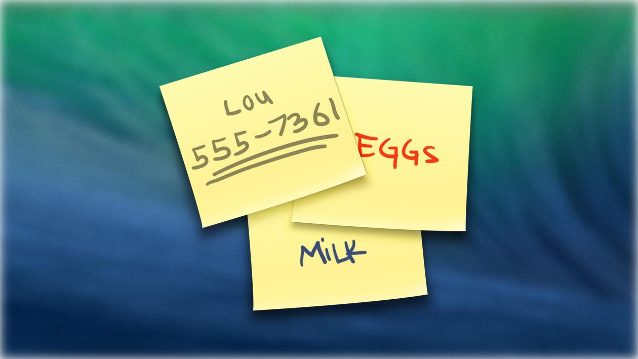 9 полезных советов по использованию Записок в OS X