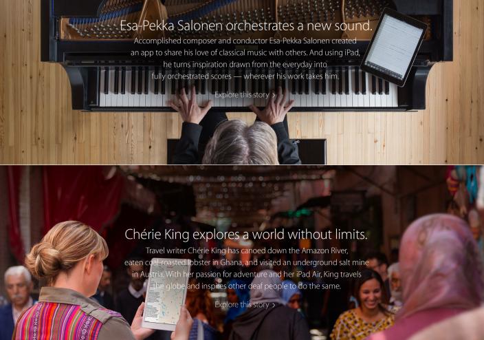 Apple выпустила 2 новых ролика для рекламной кампании iPad