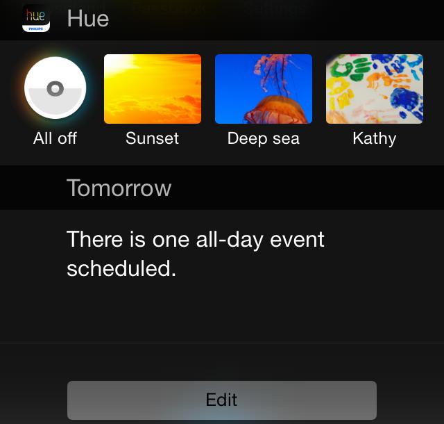 Philips показала, как будут работать виджеты для iOS 8