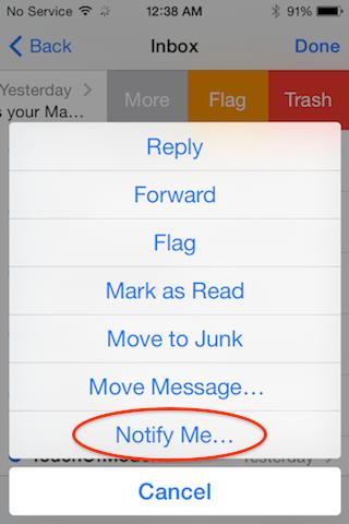 В iOS 8 можно включить напоминания о важных для вас сообщениях в Mail и Messages
