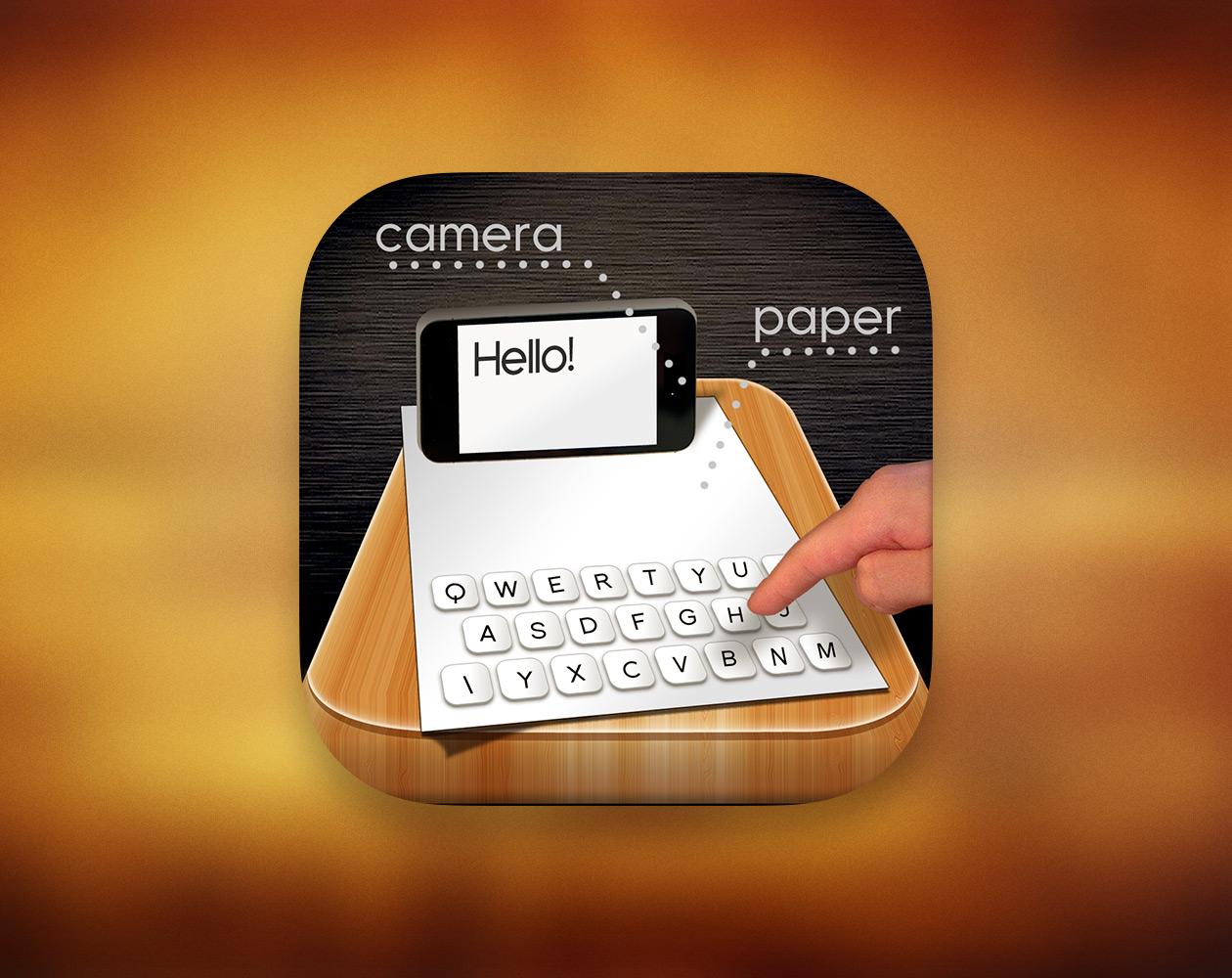 Paper Keyboard: настоящая бумажная клавиатура для iPhone