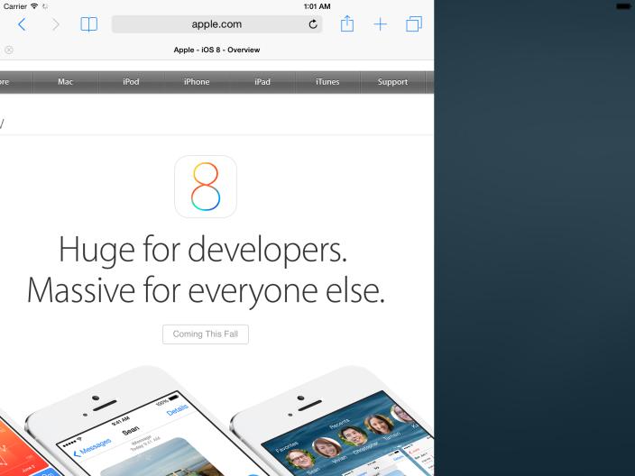 Как работает многооконный режим в iPad на iOS 8 (видео)