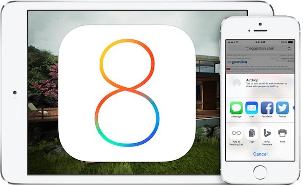 Что нового в iOS 8 beta 4