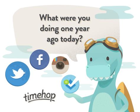 Timehop для iPhone поможет вспомнить о приятных событиях прошлых лет