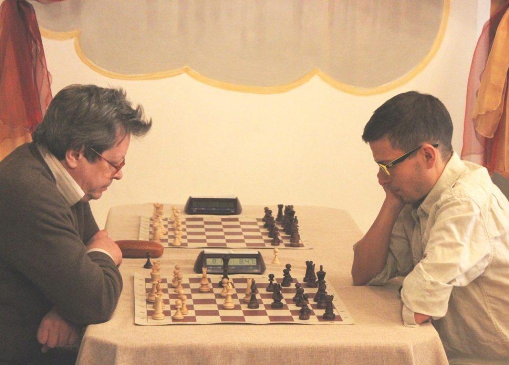 Совсем недавно — против международного мастера Евгения Калегина. Получилось дать бой)