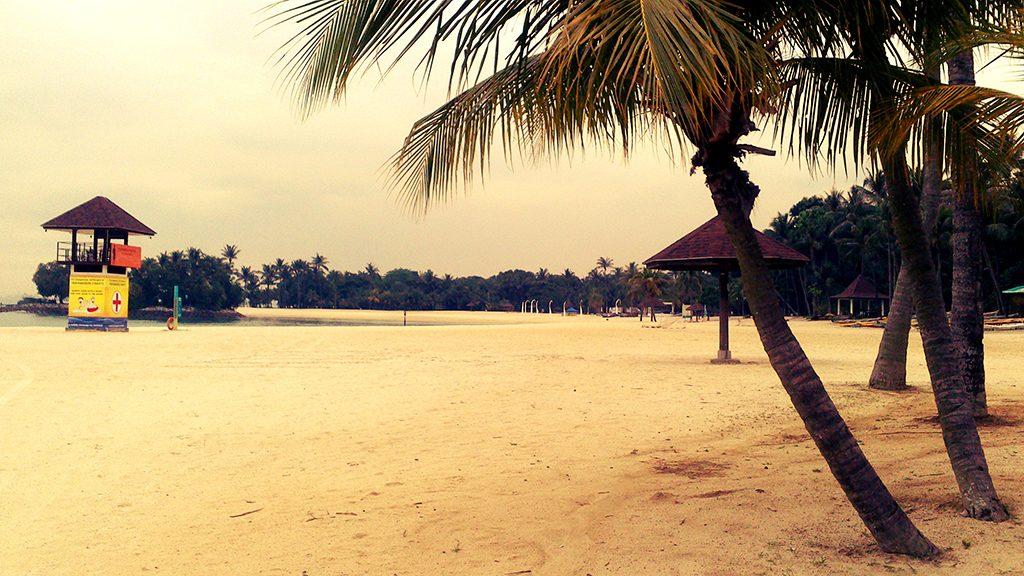 Пляж в Сингапуре