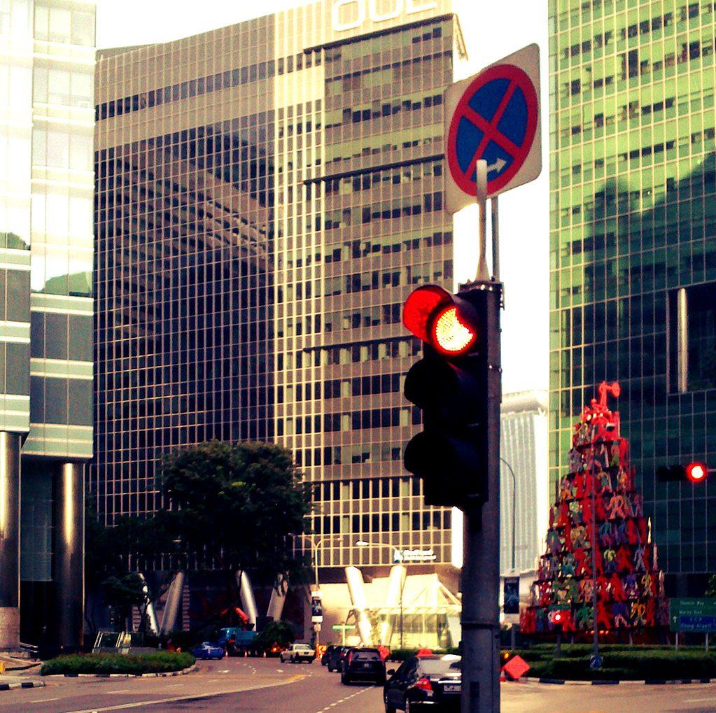 Светофор в Сингапуре