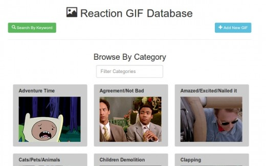 RGDB: Reaction GIF Database