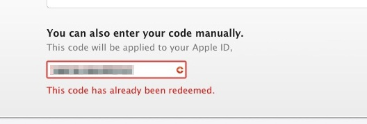 code-already-redeemed-yosemite-error
