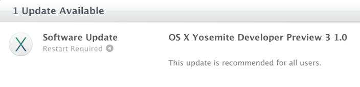 Вышла OS X 10.10 Yosemite Developer Preview 3