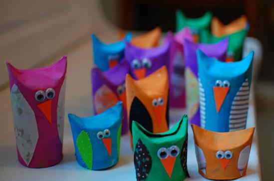 Птицы из туалетной бумаги