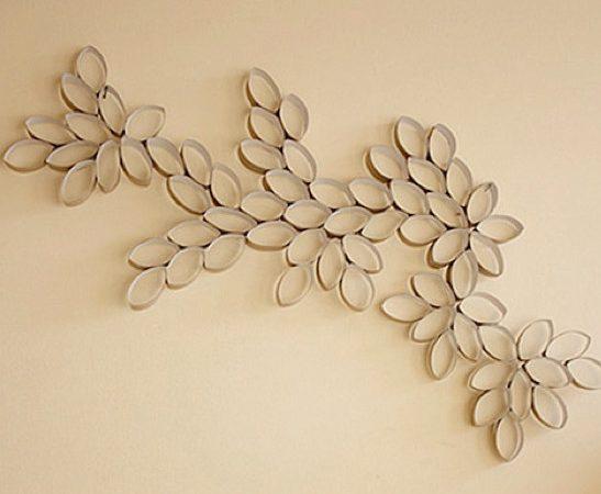 Элементы декора из туалетной бумаги
