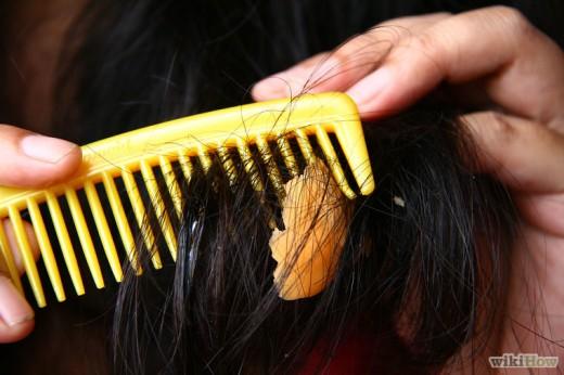 Удаление жвачки из волос при помощи вазелина или майонеза