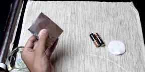 Как добыть огонь при помощи батарейки