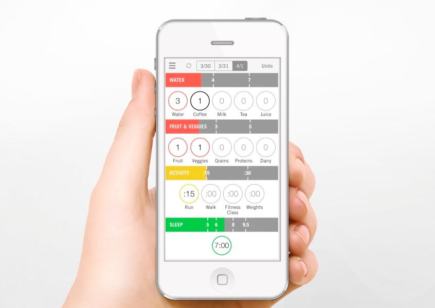 Nudge — комплексное приложение на iPhone для тех, кто ведет здоровый образ жизни