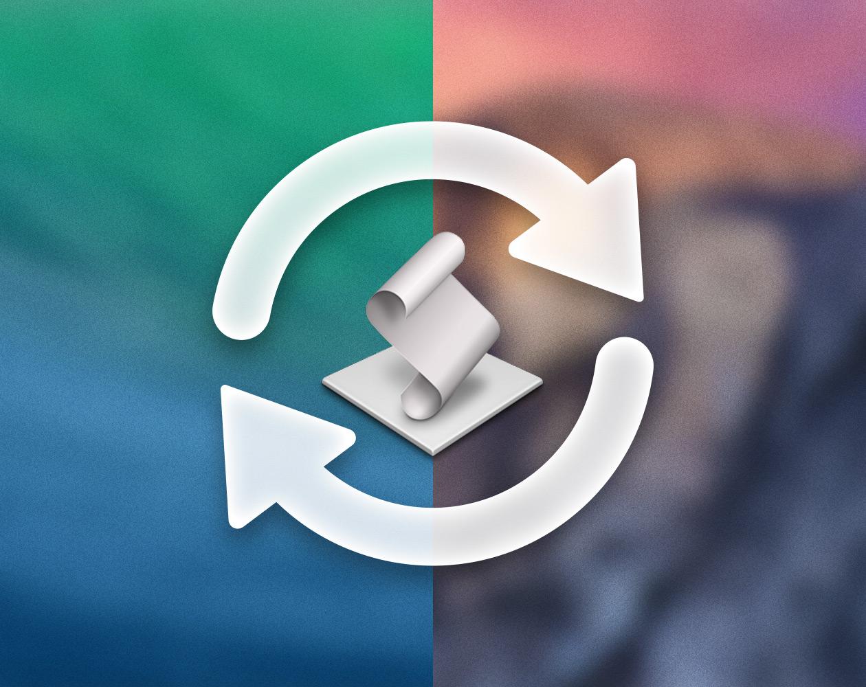 С Mavericks на Yosemite и обратно: простое переключение ОС на Маке через AppleScript