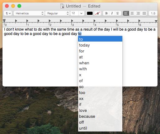 В OS X Yosemite найдена функция предиктивного ввода текста как на iOS 8