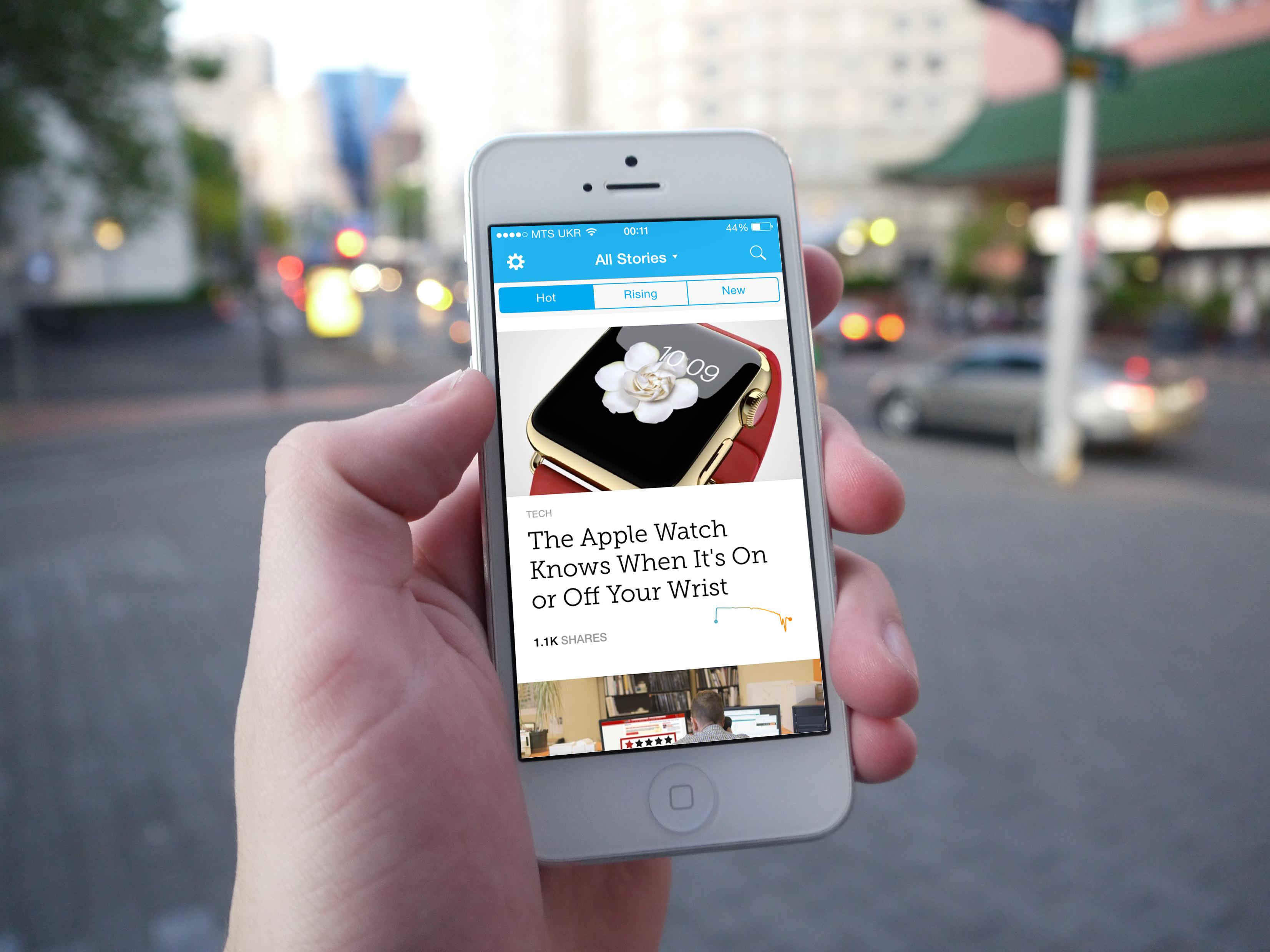 Mashable выпустили собственное приложение для iPhone