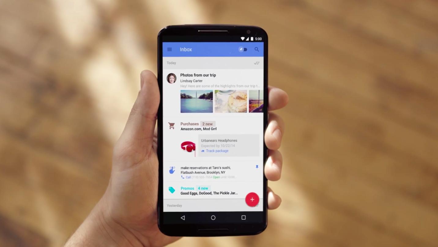 Google выпустила Inbox - наследника почтового сервиса Gmail