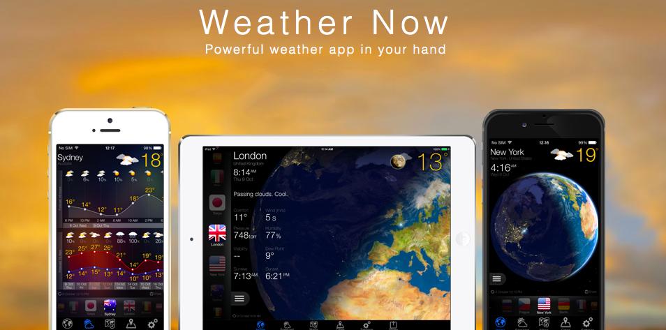 Обновление Weather Now для iOS —красивый и подробный прогноз погоды (+ розыгрыш промокодов)