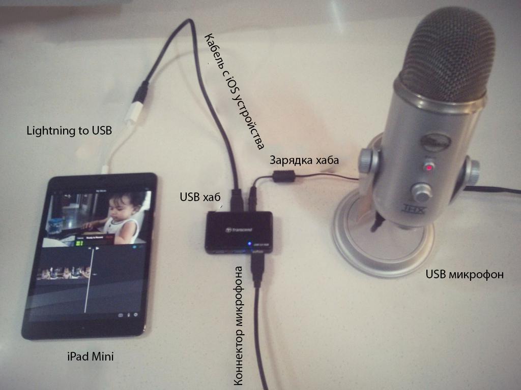 iphone как микрофон через usb