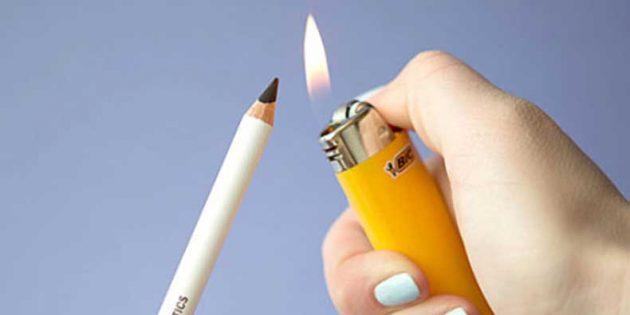 Секреты красоты: нагревание карандаша