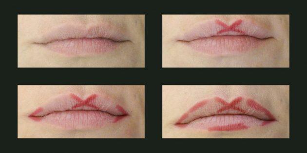 Секреты красоты: лёгкий способ нарисовать контур губ