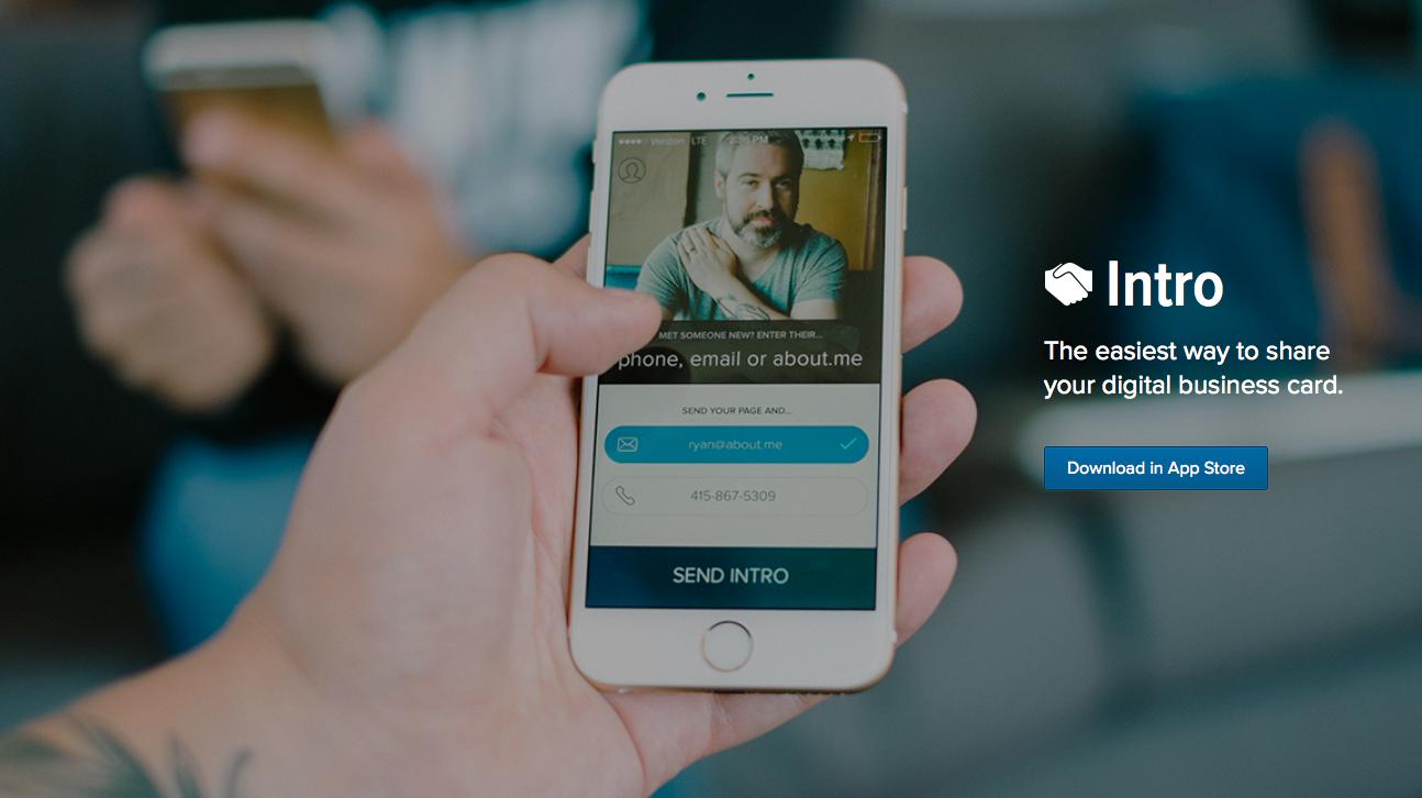 Intro для iOS —самый быстрый способ поделиться своими контактами