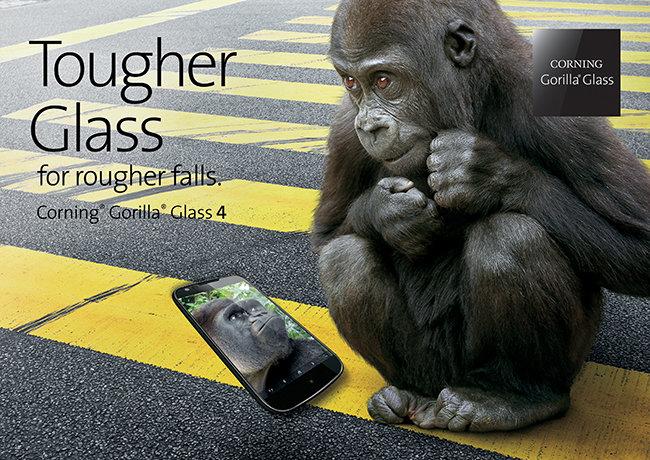 Corning представила сверхпрочное защитное стекло Gorilla Glass 4