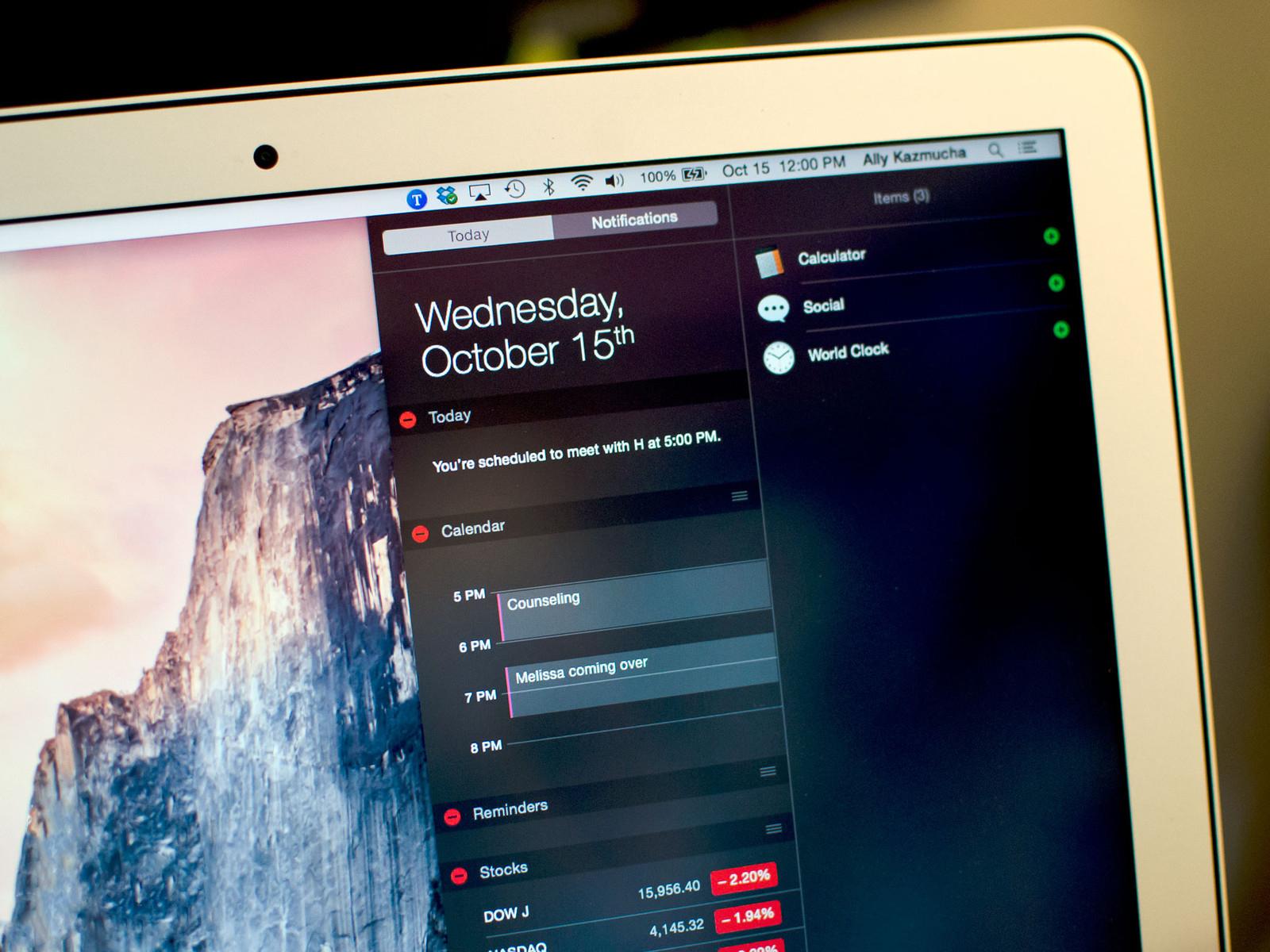 5 отличных виджетов приложений для OS X Yosemite