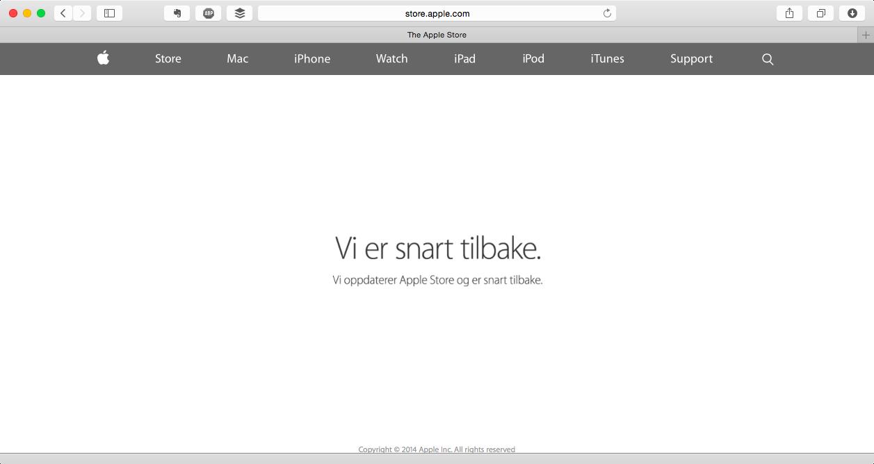 Российский Apple Online Store закрылся на переучет цен