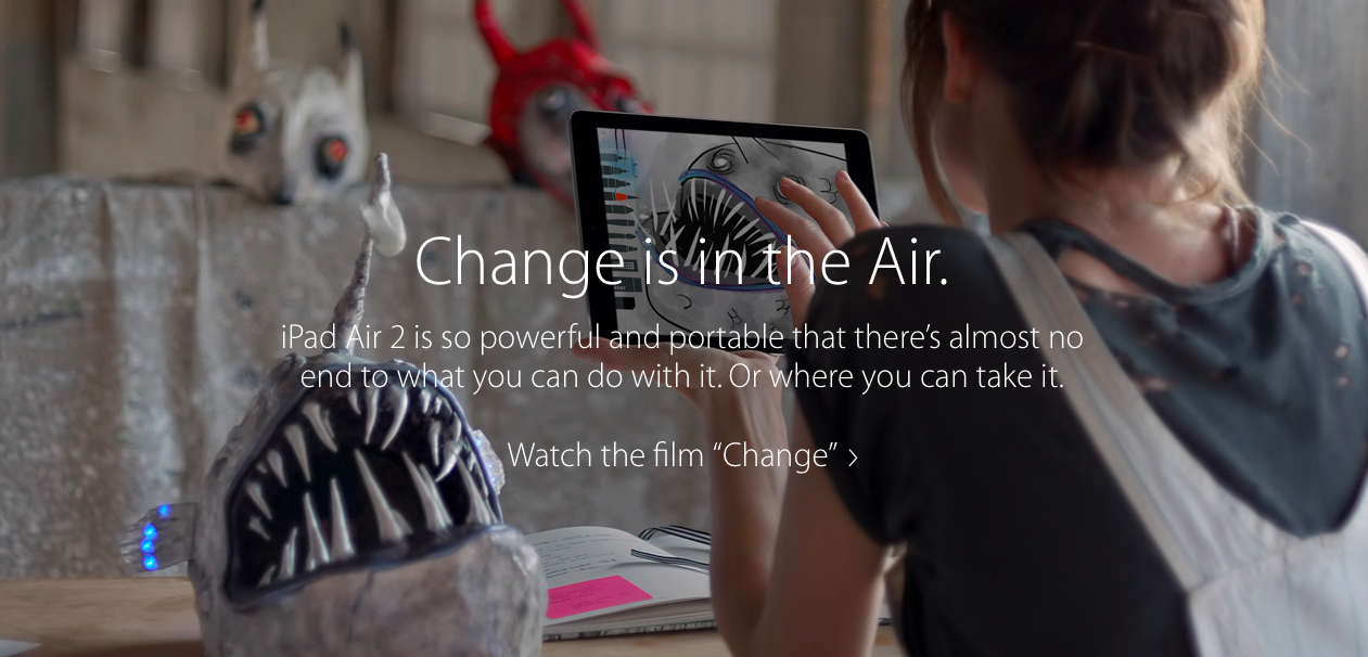 "Apple запустила рекламную кампанию iPad Air 2 - ""Change"""