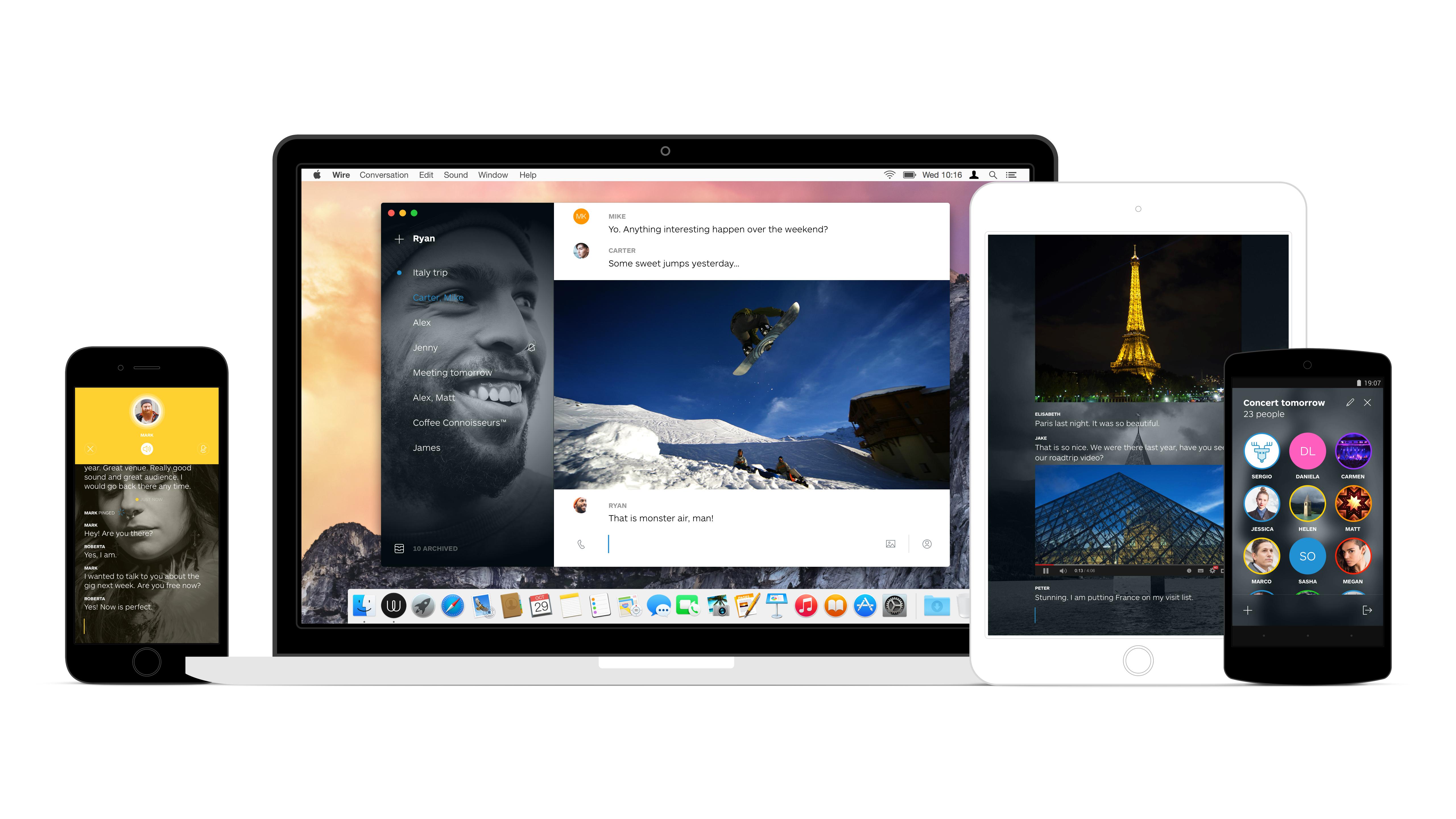 Wire — новый мессенджер от создателей Skype