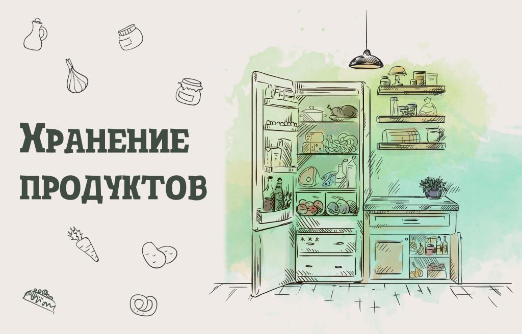 ИНФОГРАФИКА: Как хранить продукты