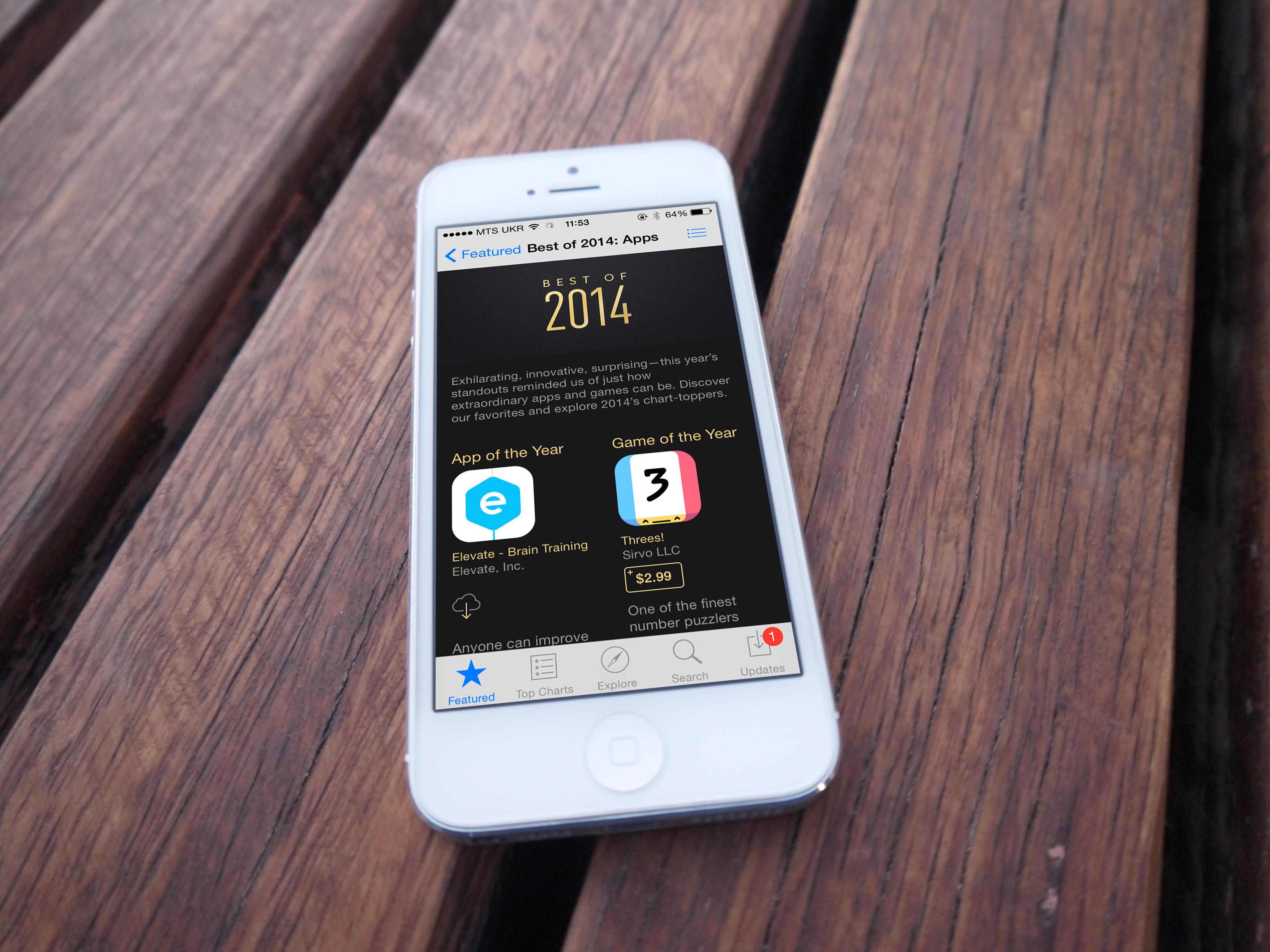 Лучшие приложения 2014 года по версии Apple