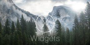 10 лучших виджетов для панели уведомлений OS X Yosemite