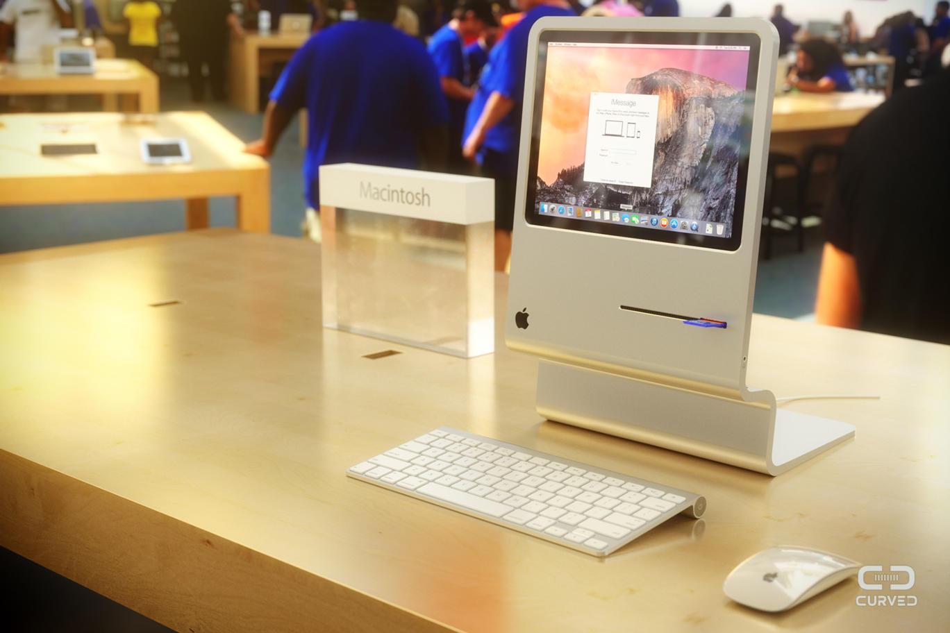 Cовременный iMac в корпусе классического Macintosh