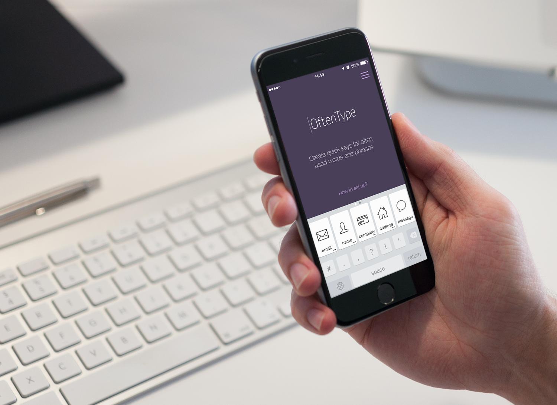 OftenType — клавиатура для iOS, серьезно ускоряющая ввод данных