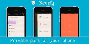 Keeply — простой и красивый способ сохранить от посторонних самую важную информацию