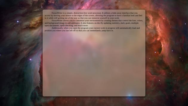 Программы для писателей: FocusWriter
