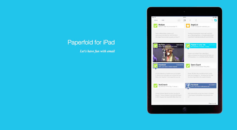 Paperfold —стильный почтовый клиент для iPad