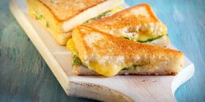 Гриль-сэндвич с яблоками, зелёным салатом и сыром + бонус на десерт